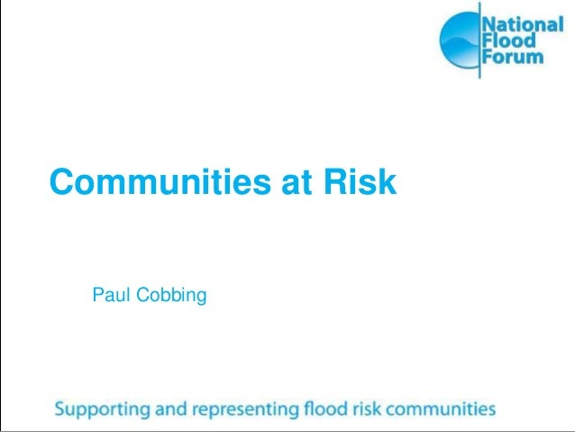 Communities at Risk Paul Cobbing