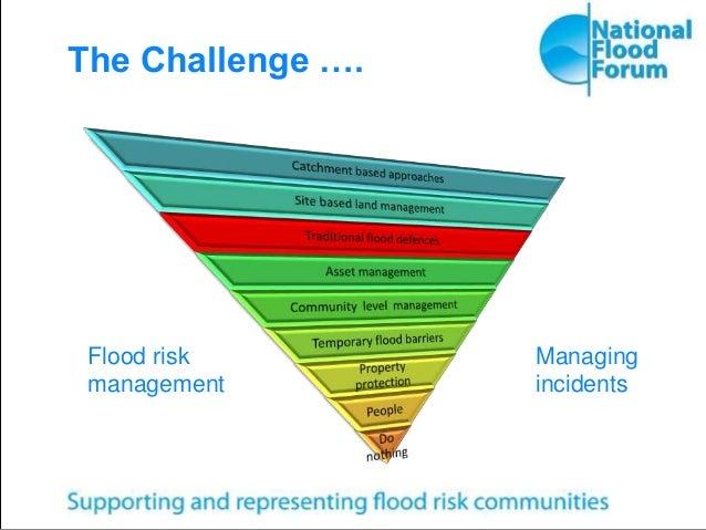 The Challenge …. Flood risk management Managing incidents