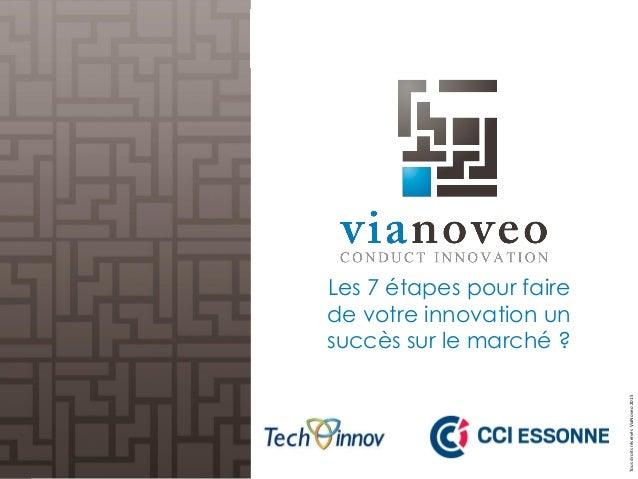 TousdroitsréservésViaNoveo2015 Les 7 étapes pour faire de votre innovation un succès sur le marché ?
