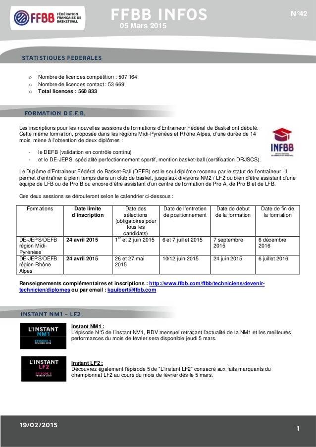 19/02/2015 1 1/Résultats des Equipes de France : o Nombre de licences compétition : 507 164 o Nombre de licences contact :...