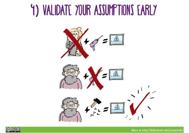 More at http://Slideshare.net/proyectalis 4) validate your assumptions early