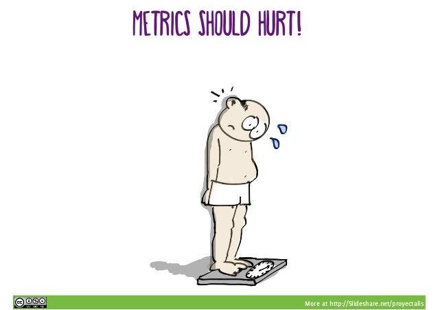 More at http://Slideshare.net/proyectalis Metrics should hurt!