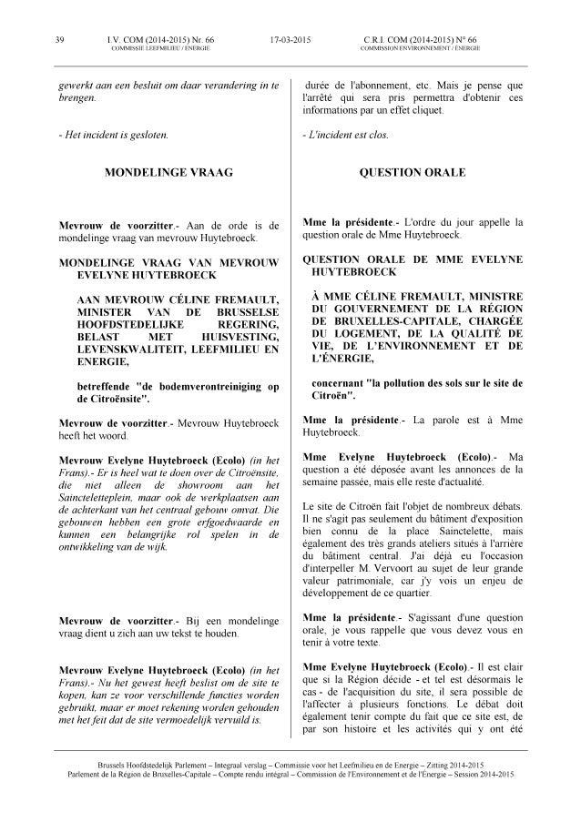 150317 verslag commissie leefmilieu   mondelinge vraag van evelyne over de milieuvervuiling in de citroëngarage