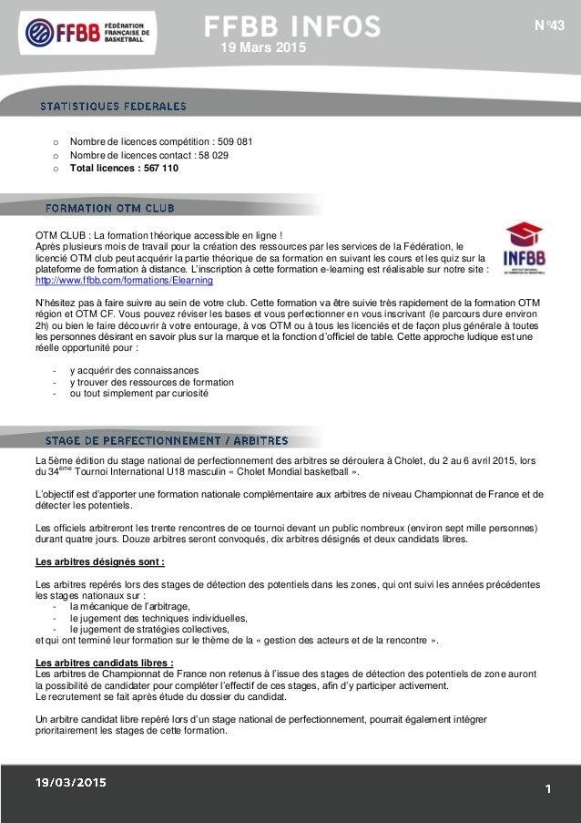 1/Résultats des Equipes de France : o Nombre de licences compétition : 509 081 o Nombre de licences contact : 58 029 o Tot...