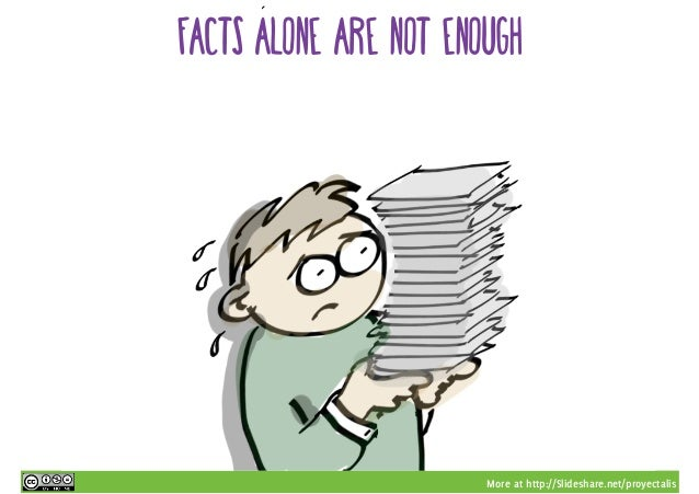 More at http://Slideshare.net/proyectalis facts alone are not enough