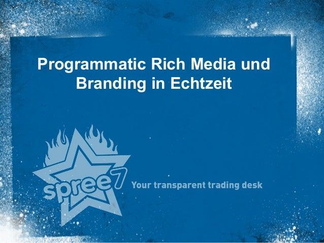 Programmatic Rich Media und Branding in Echtzeit