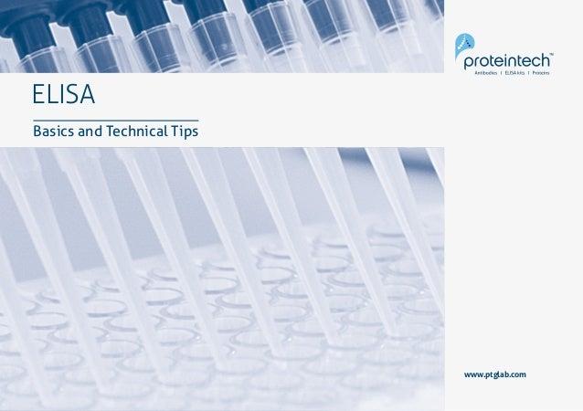 1ELISA: Basics & Technical Tips ELISA Basics and Technical Tips www.ptglab.com