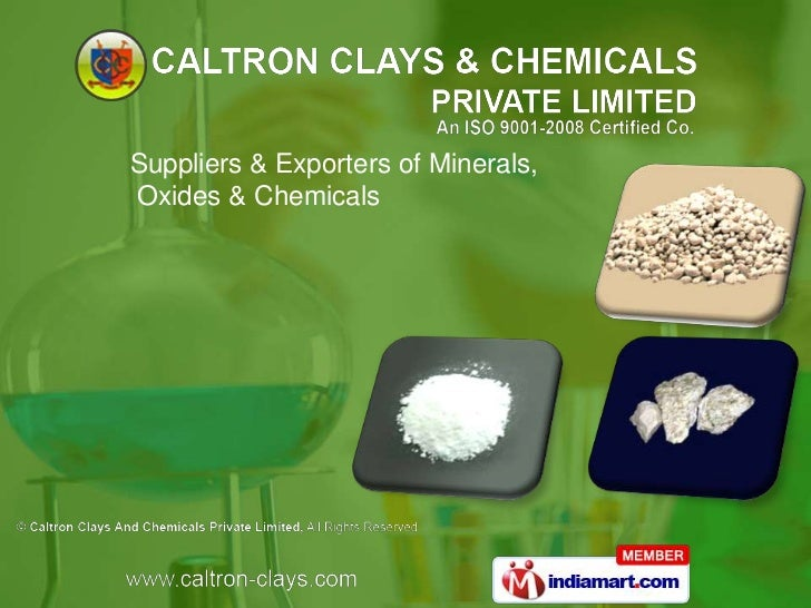 Suppliers & Exporters of Minerals,Oxides & Chemicals