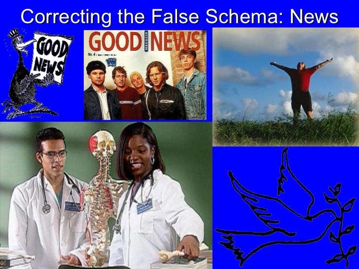 Correcting the False Schema: News