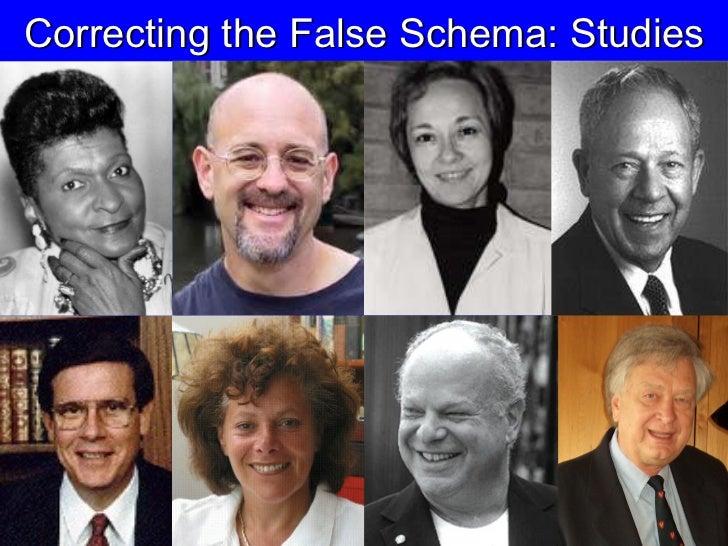 Correcting the False Schema: Studies