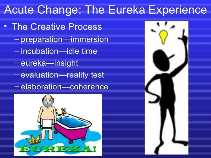 <ul><li>The Creative Process </li></ul><ul><ul><li>preparation—immersion </li></ul></ul><ul><ul><li>incubation—idle time <...