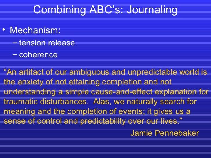 <ul><li>Mechanism: </li></ul><ul><ul><li>tension release </li></ul></ul><ul><ul><li>coherence </li></ul></ul>Combining ABC...