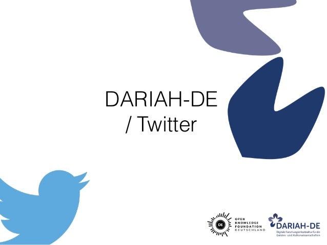 DARIAH-DE / Twitter