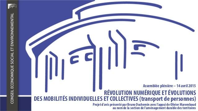 Projet d'avis présenté par BrunoDucheminavec l'appui de Olivier Marembaud au nomde la section de l'aménagementdurable des ...
