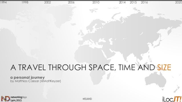 A TRAVEL THROUGH SPACE, TIME AND SIZE a personal journey by Matthias Caesar (@MattKeyzer) 1994 1998 2002 2006 2010 2014 20...