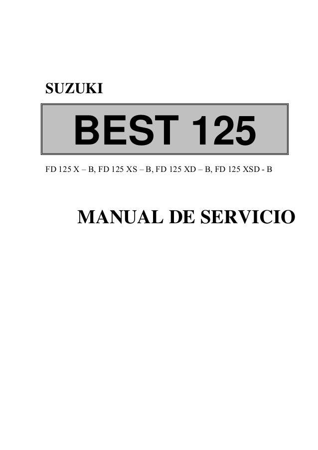 manual de servicio de suzuki best 125 rh slideshare net suzuki en 125 manual de taller suzuki epicuro 125 manual