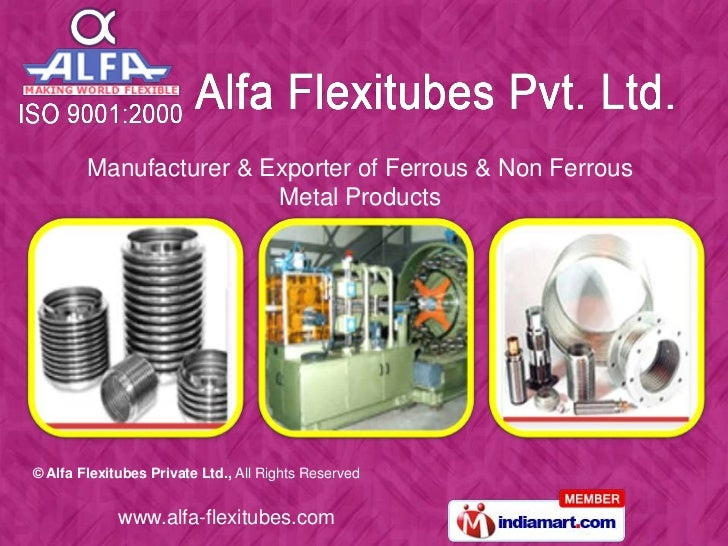 Manufacturer & Exporter of Ferrous & Non Ferrous Metal Products<br />