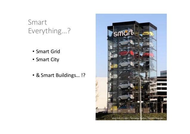 Idea from O.Cottet / Schneider Electric / HOMES Program. Smart Everything…? • Smart Grid • Smart City • & Smart Buildings…...