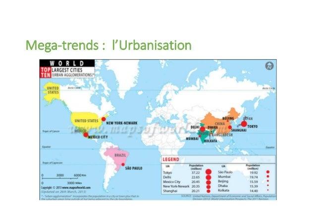 Mega-trends : l'Urbanisation