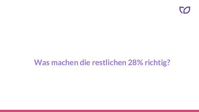 Was machen die restlichen 28% richtig?