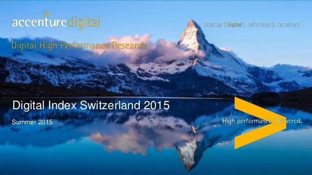 Summer 2015 Digital Index Switzerland 2015