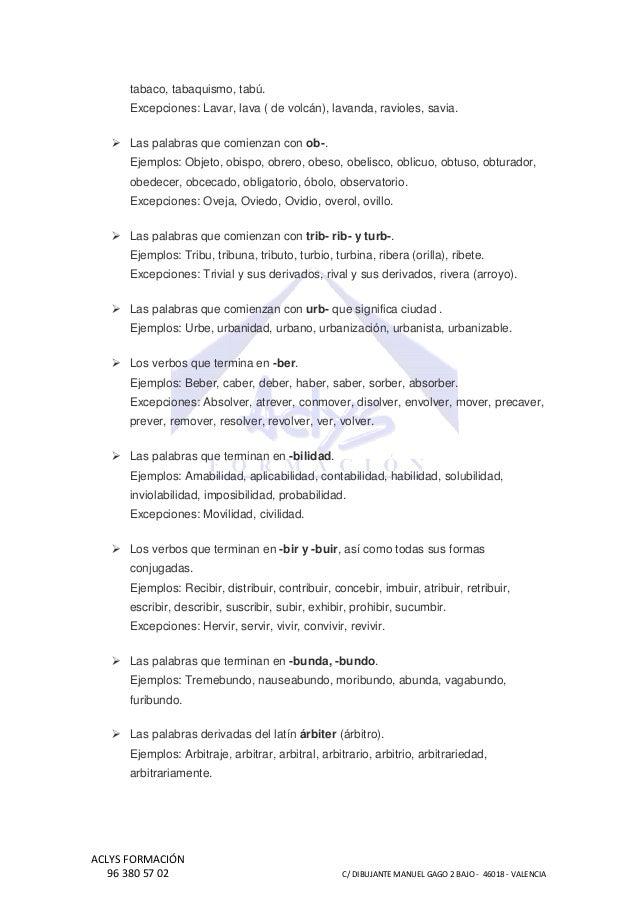 Tabla De Ortografía Básica Para Niños