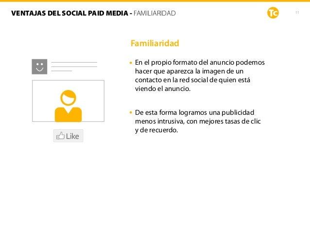 Familiaridad • En el propio formato del anuncio podemos hacer que aparezca la imagen de un contacto en la red social de qu...