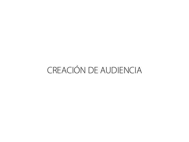 CREACIÓN DE AUDIENCIA