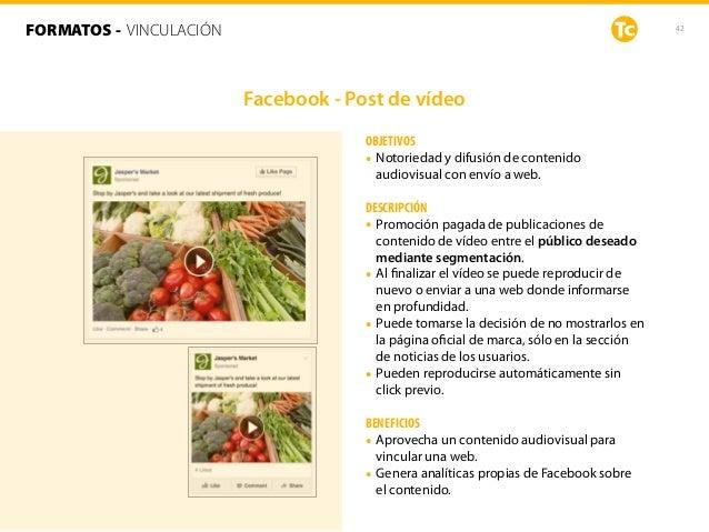 42 OBJETIVOS • Notoriedad y difusión de contenido audiovisual con envío a web. DESCRIPCIÓN • Promoción pagada de publicaci...