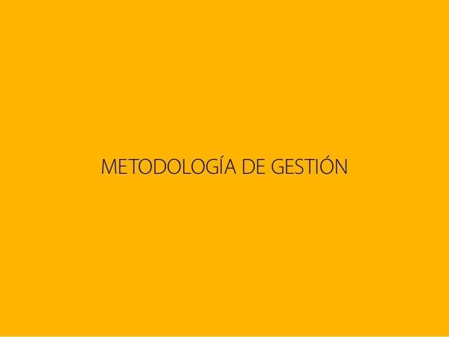 METODOLOGÍA DE GESTIÓN