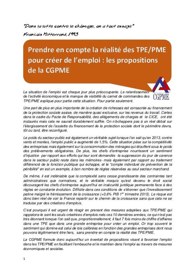 """1 """"Dans la lutte contre le chômage, on a tout essayé"""" François Mitterrand, 1993 La situation de l'emploi est chaque jour p..."""