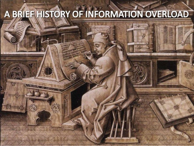 A BRIEF HISTORY OF INFORMATION OVERLOAD