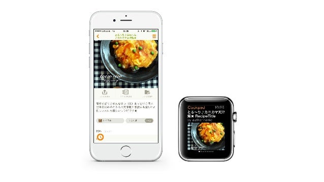 Cookpad for Apple Watch Application