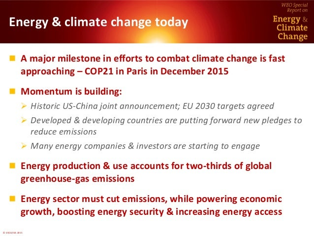 World Energy Outlook Special Report on  Energy and Climate Change  Slide 2