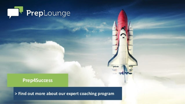 > Find out more about our expert coaching program Prep4Success
