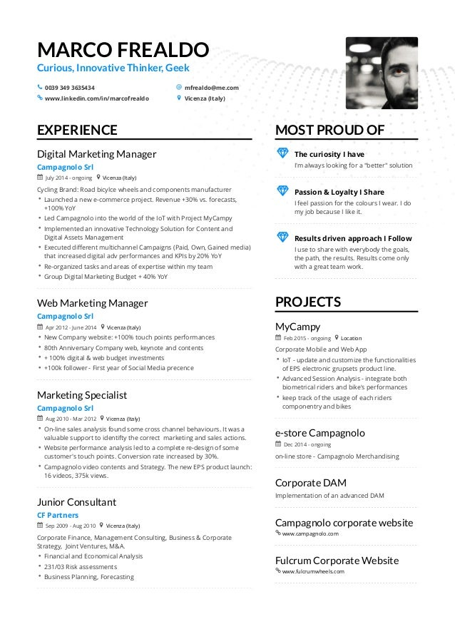 Marco Frealdo Digital Marketing Manager Extended Resume