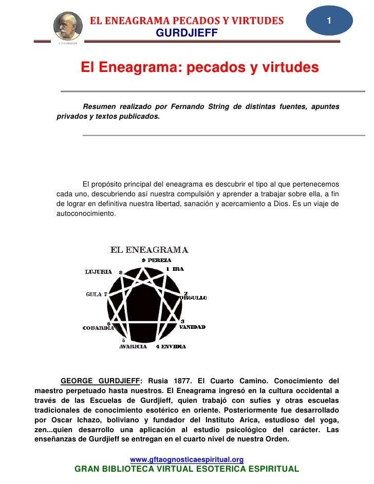 EL ENEAGRAMA PECADOS Y VIRTUDES                                           1                         GURDJIEFF            E...