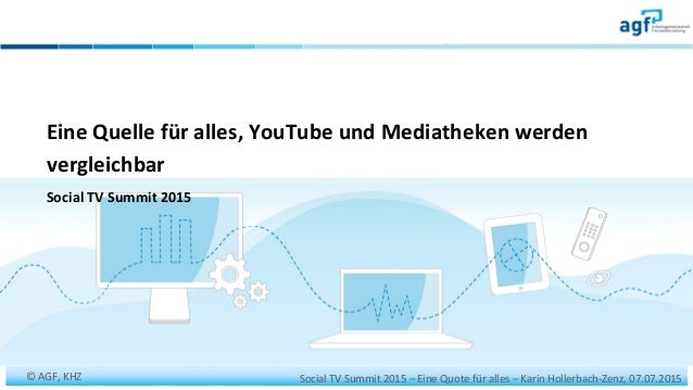 Social	   TV	   Summit	   2015	   –	   Eine	   Quote	   für	   alles	   –	   Karin	   Hollerbach-­‐Zenz,	   07.07.2015	   ...