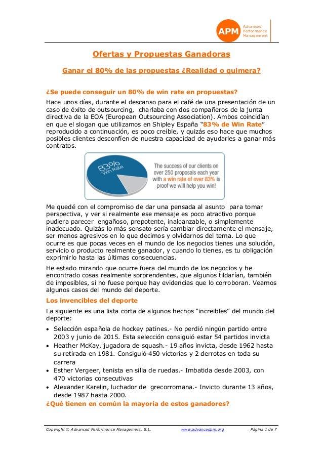Copyright © Advanced Performance Management, S.L. www.advancedpm.org Página 1 de 7 Advanced Performance Management APM Ofe...