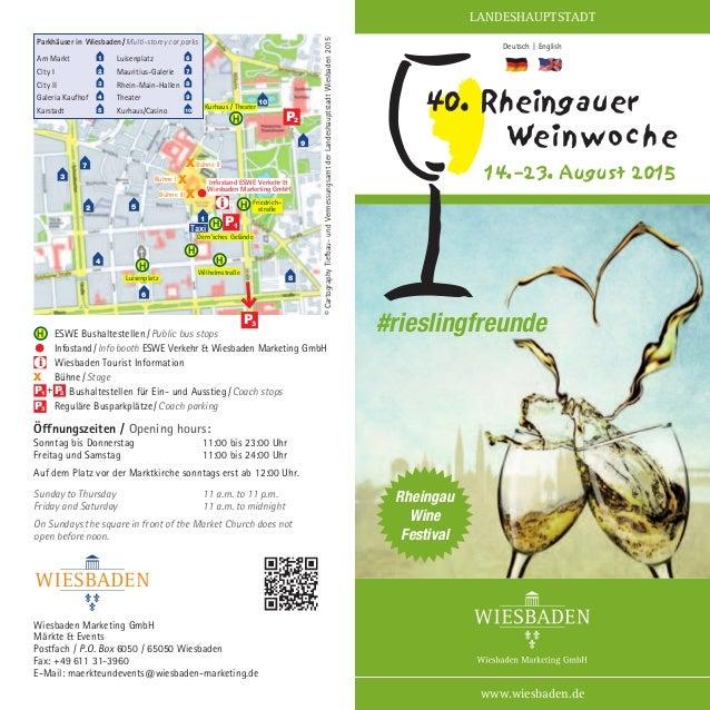 Wiesbaden Marketing GmbH Märkte & Events Postfach / P.O. Box 6050 / 65050 Wiesbaden Fax: +49 611 31-3960 E-Mail: maerkteun...