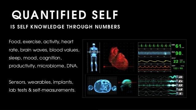 Food, exercise, activity, heart rate, brain waves, blood values, sleep, mood, cognition, productivity, microbiome, DNA. Se...