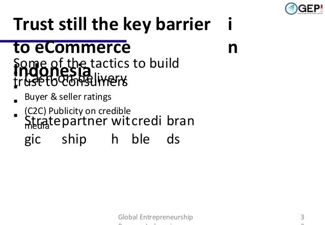 Trust still the key barrier i to eCommerce n Some of the tactics to build Indonesia  Cash-on-delivery trust to consumers ...