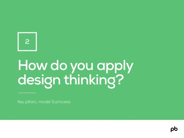 How do you apply design thinking? Key pillars, model & process 2