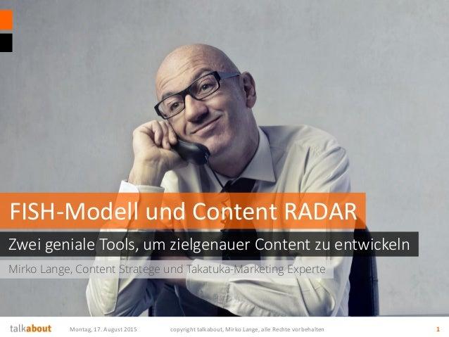 Mirko Lange, Content Stratege und Takatuka-Marketing Experte Zwei geniale Tools, um zielgenauer Content zu entwickeln FISH...