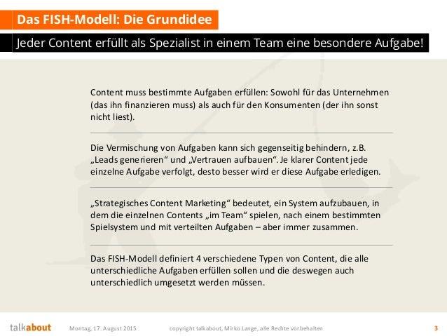 FISH Modell und Content RADAR - zwei geniale Strategie Tools für das Content Marketing Slide 3