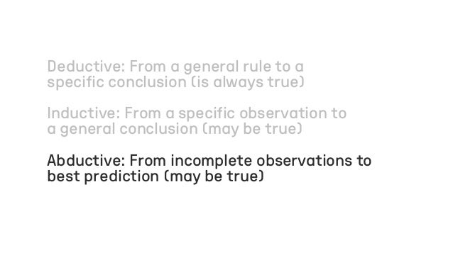 Deductive: From a general rule to a specific conclusion (is always true) Inductive: From a specific observation to a gener...