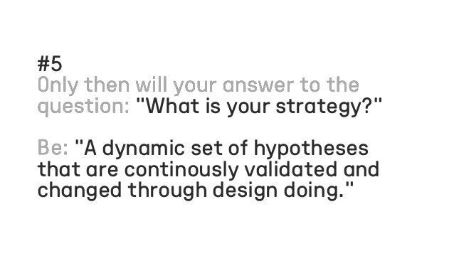 Slides for the online Morgenbooster 'Design Doing is Strategy on Demand'