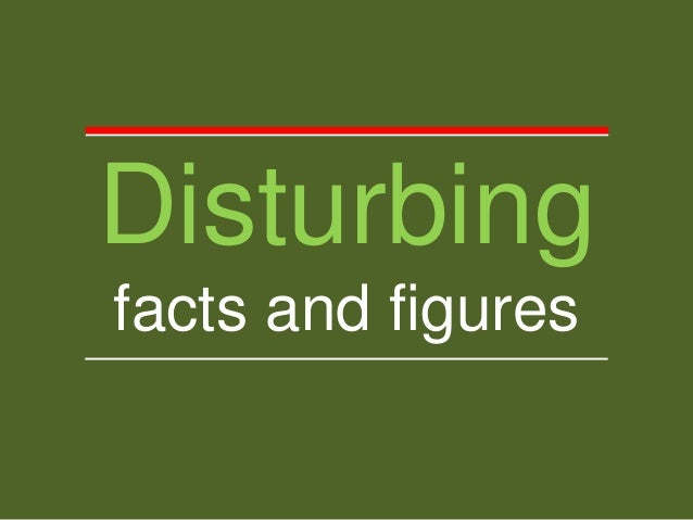 Disturbing facts and figures