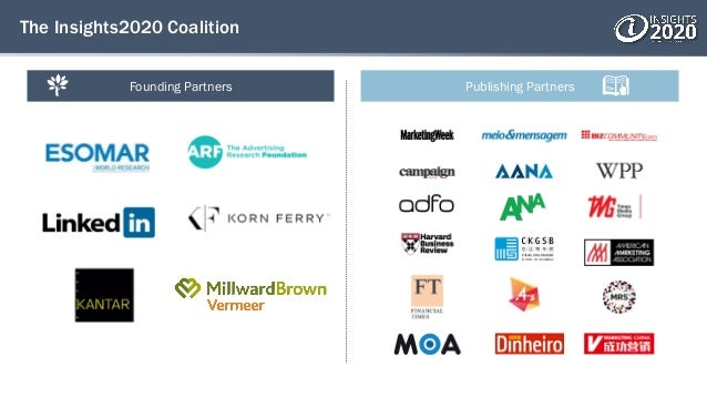 The Insights2020 Coalition Founding Partners Publishing Partners
