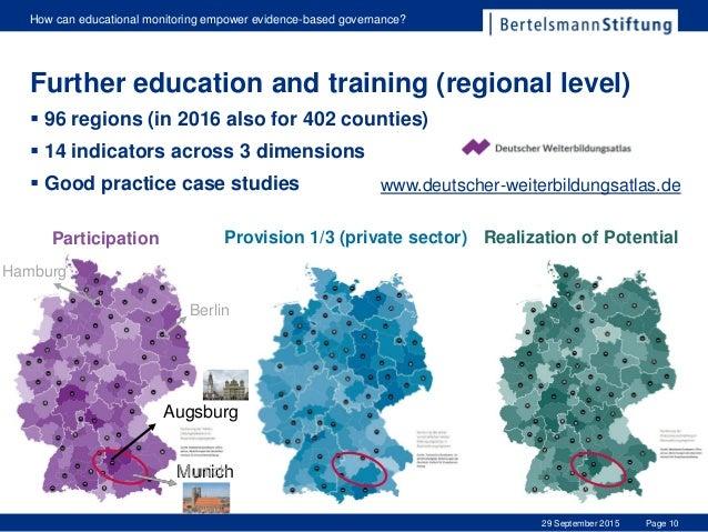 Page 10 How can educational monitoring empower evidence-based governance? 29 September 2015 www.deutscher-weiterbildungsat...